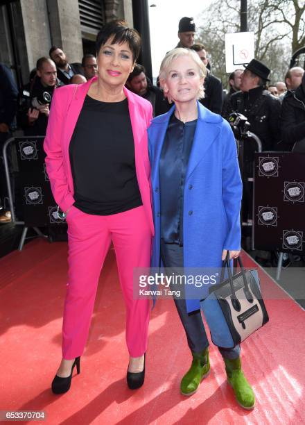 Denise Welch and Lisa Maxwell attend the TRIC Awards 2017 at the Grosvenor House on March 14 2017 in London United Kingdom
