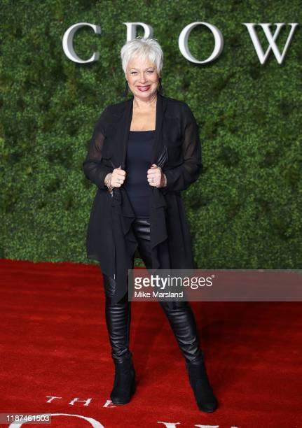 Denise Welch attends The Crown Season 3 world premiere at The Curzon Mayfair on November 13 2019 in London England