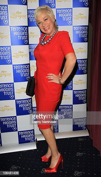 Denise Welch attends the Terrence Higgins Trust's The Supper Club at Cafe de Paris on November 2 2010 in London England