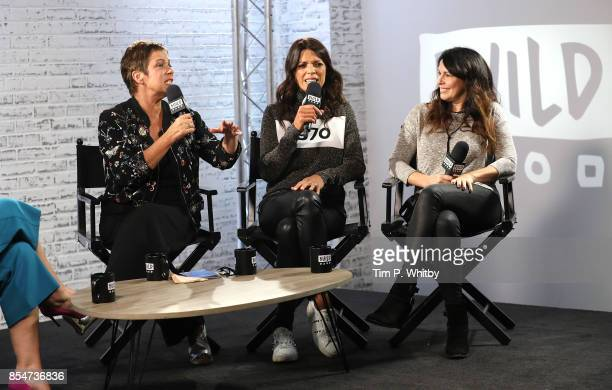 Denise Welch Jenny Powell and Julie Graham discuss the medias role in ageism during a BUILD LND event at AOL on September 27 2017 in London England