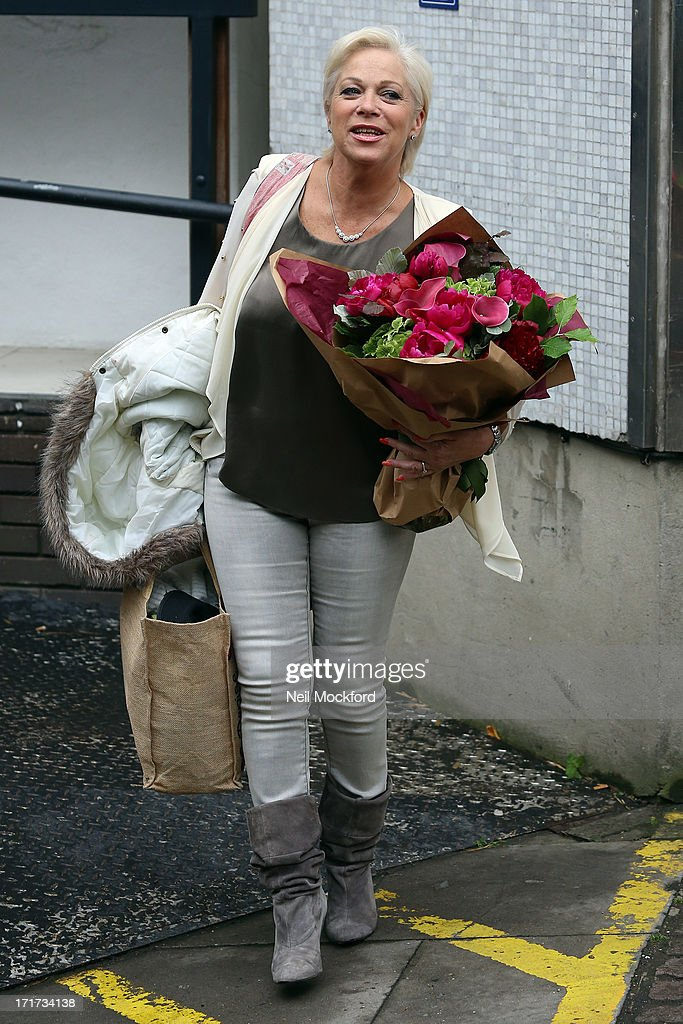 Denise Welch seen leaving the ITV Studios after the last 'Loose Women' of the year show on June 28, 2013 in London, England.