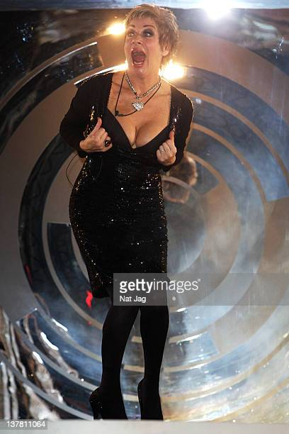 Denise Welch wins Celebrity Big Brother 2012 at Elstree Studios on January 27 2012 in Borehamwood England