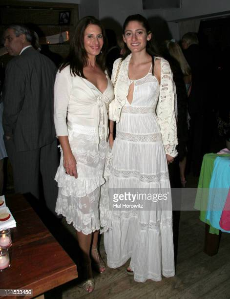 Denise Wohl and Arden Wohl during Arden Wohl's Graduation Party Benefitting the Playground Project at Nikki Beach in New York New York United States