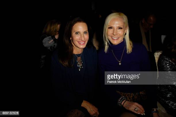 Denise Wohl and Michele Herbert attend DOUGLAS HANNANT Fall 2009 Collection at The Plaza Hotel on February 19 2009 in New York City