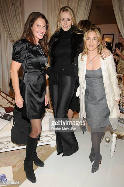 Denise Wohl Carola Jain and Kat Cohen attend The Plaza Retail Collection Presents MAGGIE NORRIS COUTURE at The Plaza on November 13 2008 in New York...