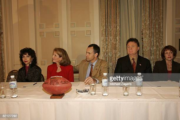 Denise York Kathy Nolan Mike Nolan and Bob LaMonte during the press conference announcing Mike Nolan as the Head Coach of the San Francisco 49ers at...