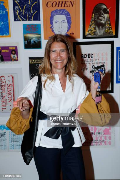 Denise Zanet attends Albert Koski exposes its Rock&Roll Posters Collection at Galerie Laurent Godin on June 03, 2019 in Paris, France.