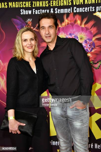 Denise Zich and Andreas Elsholz attend the Afrika Afrika 2018 Show Premiere on January 23 2018 in Berlin Germany