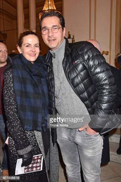 Denise Zich and Andreas Elsholz attend the 'Die Niere' premiere on March 4 2018 in Berlin Germany