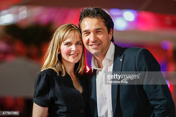 Denise Zich and Andreas Elsholz attend the Raffaello Summer Day 2015 to celebrate the 25th anniversary of Raffaello on June 20 2015 in Berlin Germany