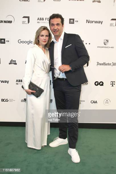 Denise Zich and Andreas Elsholz during the Green Award as part of the Greentech Festival at Tempelhof Airport on May 24 2019 in Berlin Germany The...