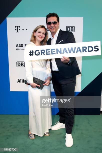 Denise Zich and German actor Andreas Elsholz during the Green Award as part of the Greentech Festival at Tempelhof Airport on May 24 2019 in Berlin...