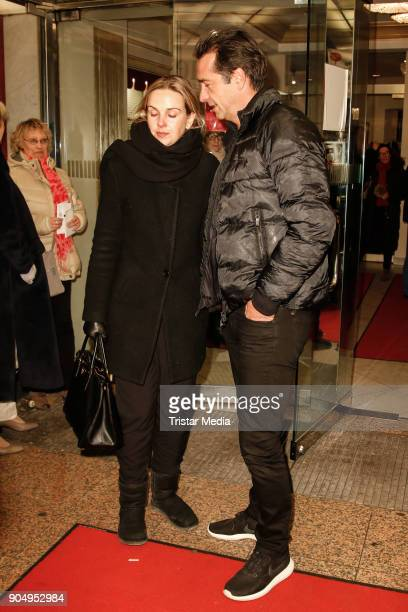 Denise Zich and her husband Andreas Elsholz attend the 'Die Tanzstunde' premiere on January 14 2018 in Berlin Germany