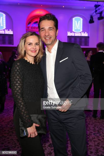 Denise Zich and her husband Andreas Elsholz attend the Movie Meets Media 'MMM' event on the occasion of the 68th Berlinale International Film...
