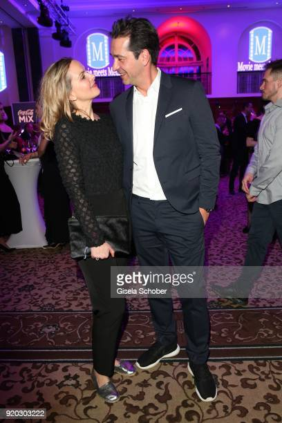Denise Zich and her husband Andreas Elsholz during the Movie Meets Media 'MMM' event on the occasion of the 68th Berlinale International Film...