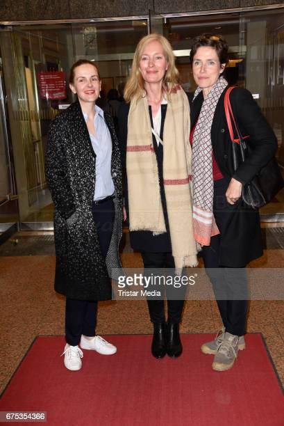Denise Zich Katja Weitzenboeck and Julia Bremermann attend the 'Wir sind die Neuen' Premiere at Kudamm on April 30 2017 in Berlin Germany