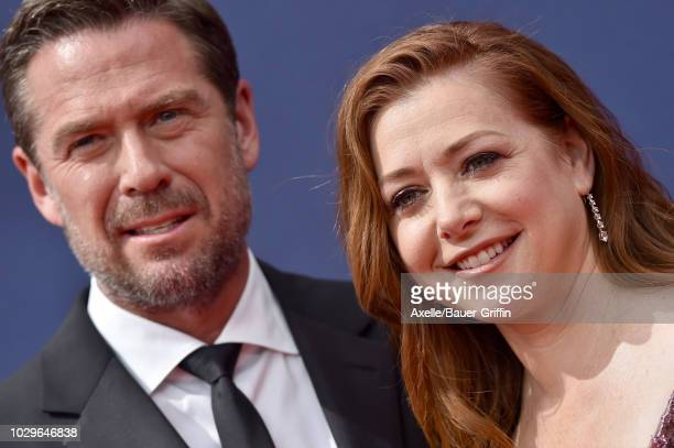 Denisof and Alyson Hannigan attend the 2018 Creative Arts Emmy Awards at Microsoft Theater on September 8 2018 in Los Angeles California