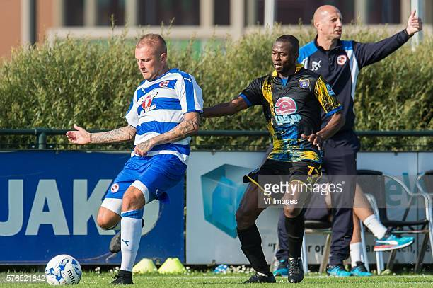 Deniss Rakels of Reading FC Mahmoud Muaaz of Al Taawoun FC coach Jaap Stam of Reading FC during the Friendly Match between Al Taawoun FC and Reading...