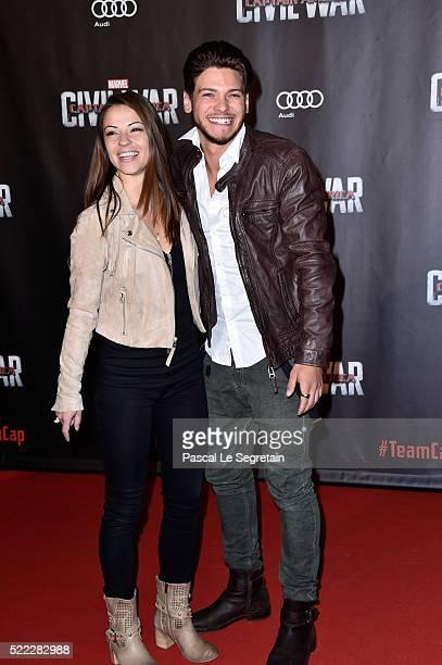 Denitsa Ikonomova and Rayane Bensetti attend Captain America Civil War Premiere at Le Grand Rex on April 18 2016 in Paris France