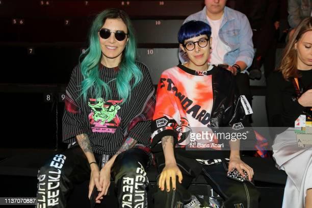 Deniz Berdan and Begum Berdan attend the MercedesBenz Fashion Week Istanbul March 2019 at Zorlu Center on March 20 2019 in Istanbul Turkey