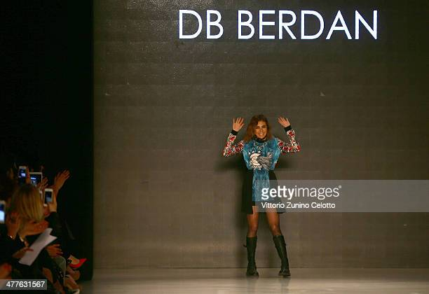 Deniz Berdan walks the runway at the DB Berdan by L'Oreal Professional show during MBFWI presented by American Express Fall/Winter 2014 on March 10...