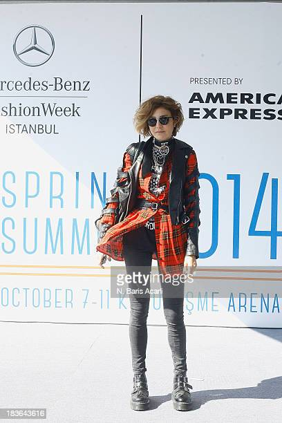 Deniz Berdan wears Topshop pants The Ragged Priest jacket and Dr Martens shoes during MercedesBenz Fashion Week Istanbul s/s 2014 presented by...
