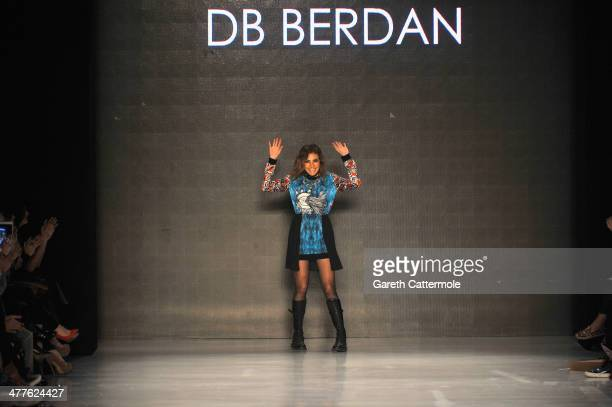 Deniz Berdanl walks the runway at the DB Berdan by L'Oreal Professional show during MBFWI presented by American Express Fall/Winter 2014 on March 10...