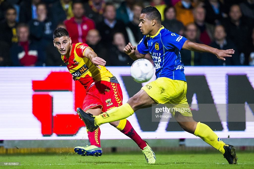Deniz Turuc Of Go Ahead Eagles Lucas Bijker Of Cambuur Leeuwarden News Photo Getty Images