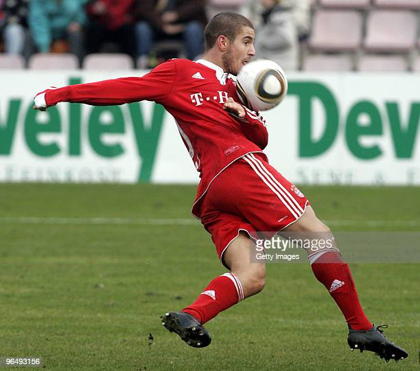 Deniz Yilmaz of FC Bayern II during the 3Liga match between SpVgg Unterhaching and Bayern Muenchen II at the Generali Sportpark on January 24 2010 in...