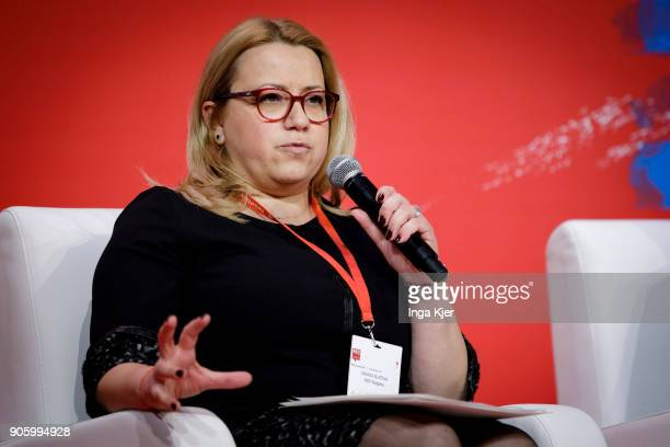 Deniza Slateva Deputy Chairwoman for European Affairs and International Relations in the course of the PES party congress on December 01 2017 in...