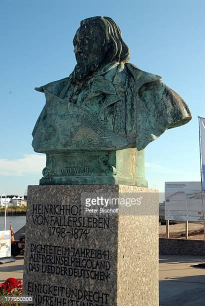 Denkmal für Heinrich Hoffmann von Fallersleben , Unterland, Insel Helgoland, Schleswig-Holstein, Deutschland, Europa, Nordsee, Reise,