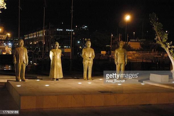 Denkmal im Hafenviertel Kapstadt Südafrika Afrika Nacht Beleuchtung Reise
