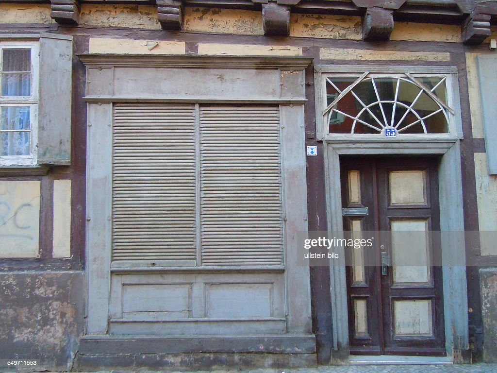 Quedlinburg - Geschlossener Laden : News Photo