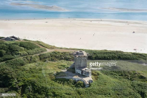 Denmark, Blavand, German Atlantic Wall bunker at the coast