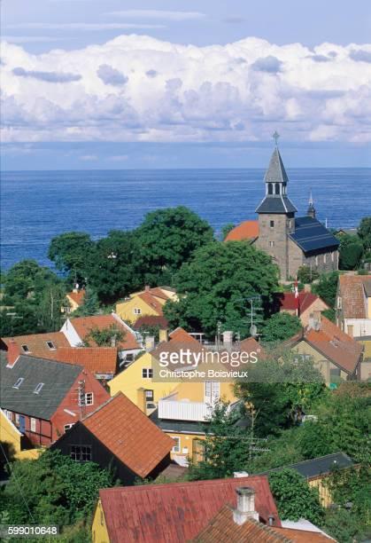 Denmark, Bornholm Island, Gudhjem village