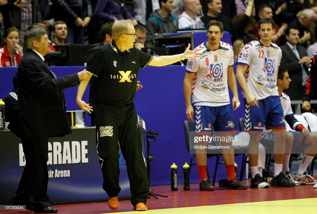 Serbia v Denmark - Men's European Handball Championship 2012