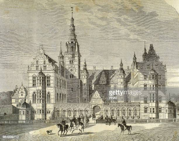 Denmark. Copenhagen. Frederiksborg Castle, a palatial complex in Hillerod. It was built as a royal residence for King Christian IV of Denmark-Norway...