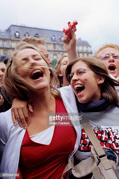 Denmark Fans Celebrating World Cup Victory