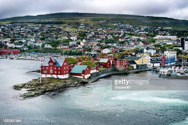 denmark, faroe islands, torshavn - denmark stock pictures, royalty-free photos & images