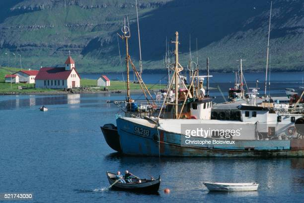 Denmark, Faroes archipelago, Bordoy island, Nordepil harbour