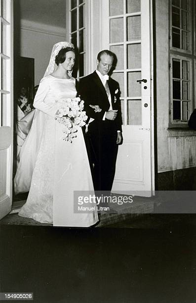 Denmark February 1968 the wife Princess Benedikte OF DENMARK Prince Richard of SaynWittgenstein Berleburg