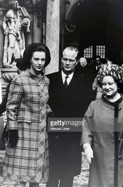 Denmark February 1968 the wife Princess Benedikte OF DENMARK Prince Richard of SaynWittgenstein BERLEBURGavec Queen Mother Elizabeth of England