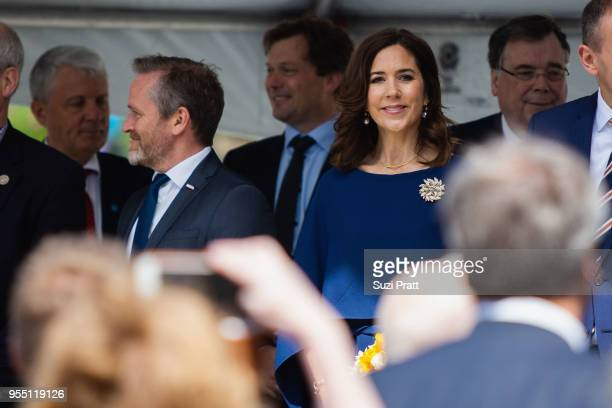 Denmark Foreign Minister Anders Samuelsen and Her Royal Highness the Crown Princess Mary of Denmark at the Nordic Museum on May 5 2018 in Seattle...