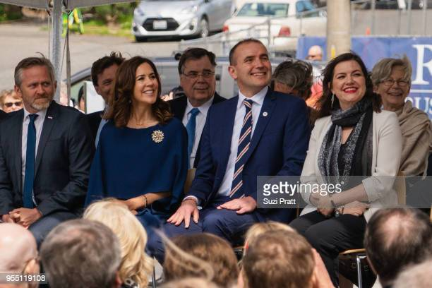 Denmark Foreign Minister Anders Samuelsen Her Royal Highness the Crown Princess Mary of Denmark President of Iceland Gudni Th Johannesson and First...
