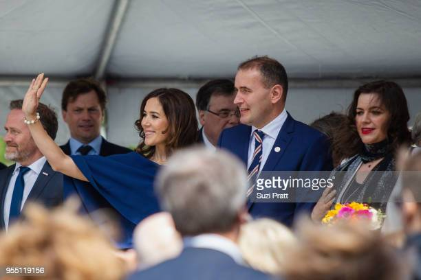 Denmark Foreign Minister Anders Samuelsen Her Royal Highness the Crown Princess Mary of Denmark President of Iceland Gudni Th Johannesson and Iceland...