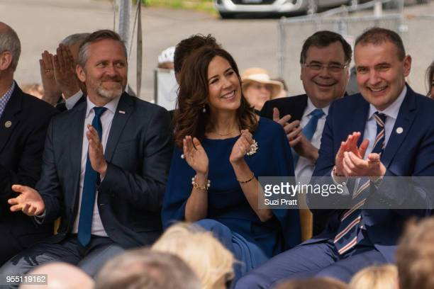 Denmark Foreign Minister Anders Samuelsen Her Royal Highness the Crown Princess Mary of Denmark and President of Iceland Gudni Th Johannesson at the...
