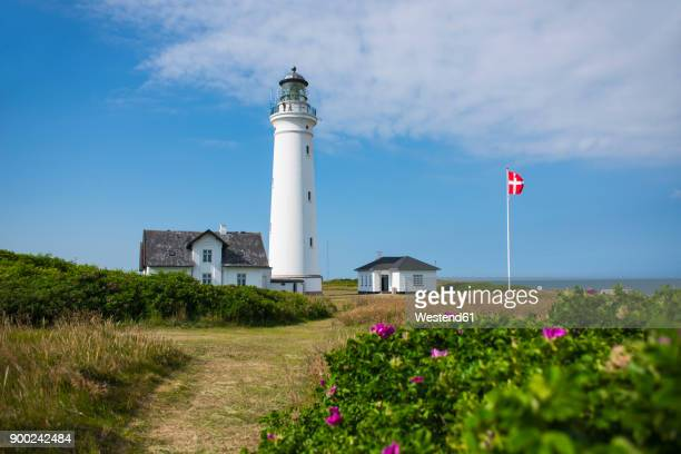 denmark, hirtshals, lighthouse - denmark stock pictures, royalty-free photos & images