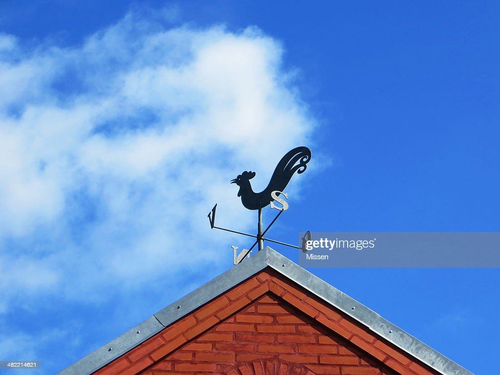 Denmark, Low angle view of weather vane : Stock Photo
