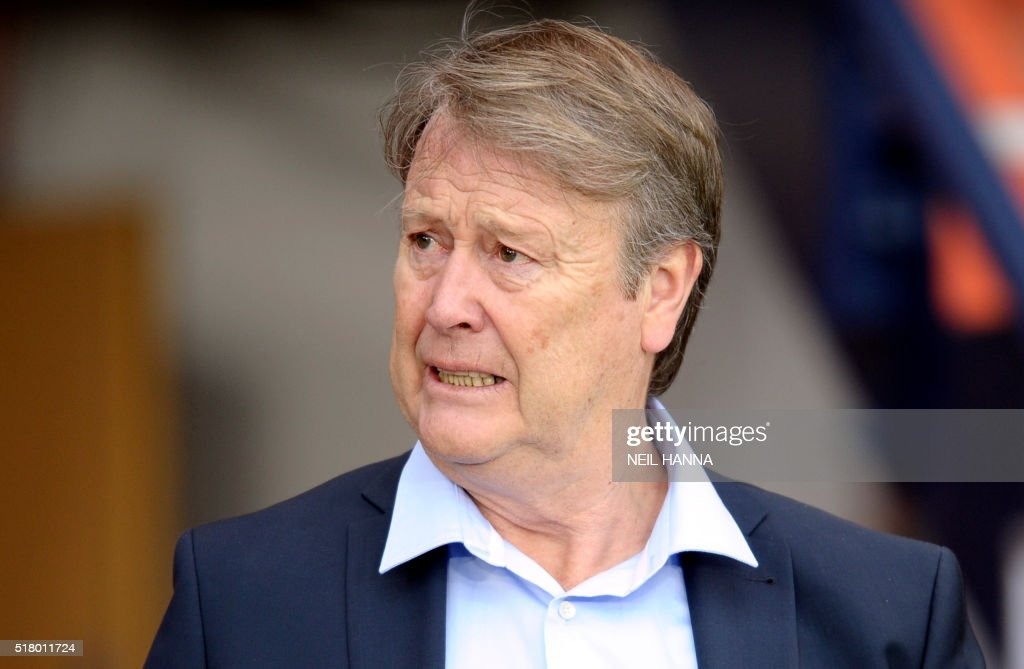 Denmark manager Age Hareide arrives for the international friendly football match between Scotland and Denmark at Hampden Park in Glasgow on March 29, 2016.