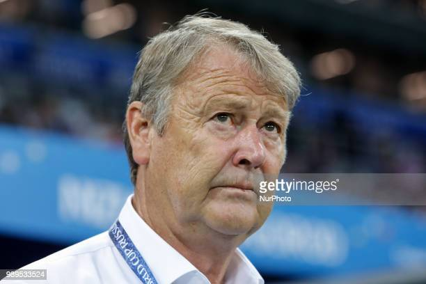 Denmark national team head coach Age Hareide during the 2018 FIFA World Cup Russia Round of 16 match between Croatia and Denmark on July 1 2018 at...